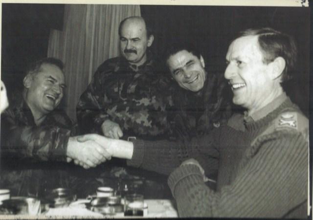 General Sir Michael Rose and General Ratko Mladic