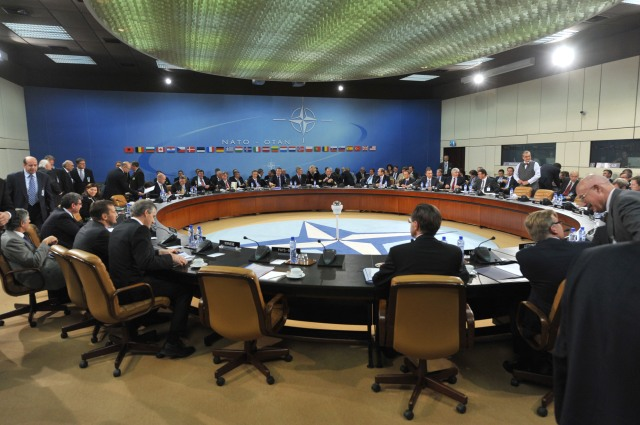 Meetings of Foreign and Defence Ministers at NATO Headquarters in Brussels